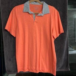 Calvin Klein fluorescent orange polo